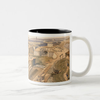Docks at Sebastopol, plate from 'The Seat of War i Two-Tone Coffee Mug