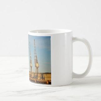 Dockside cranes coffee mug