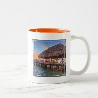 Dockside Sunrise Two-Tone Coffee Mug