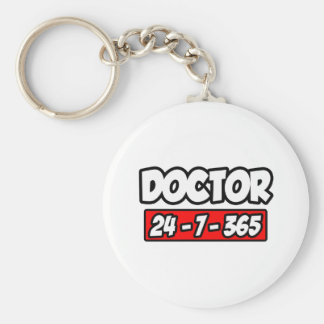Doctor 24-7-365 basic round button key ring