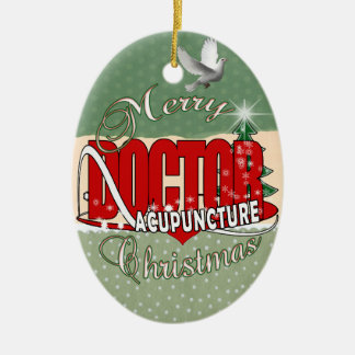 DOCTOR ACUPUNCTURE MERRY CHRISTMAS CHRISTMAS ORNAMENT