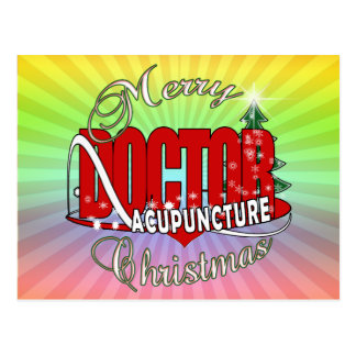 DOCTOR ACUPUNCTURE MERRY CHRISTMAS POSTCARDS