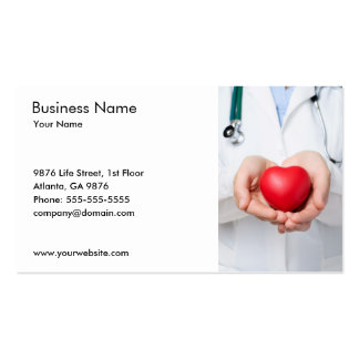 Doctor and Heart Business Card Template Business Cards
