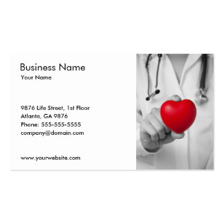 Doctor and Heart Business Card Template Business Card Template