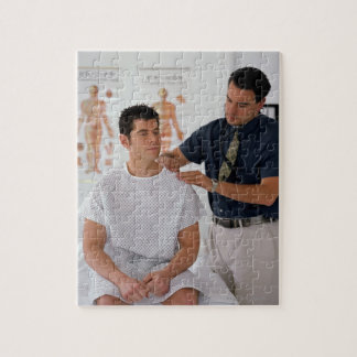 Doctor and patient jigsaw puzzle