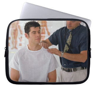Doctor and patient laptop sleeve