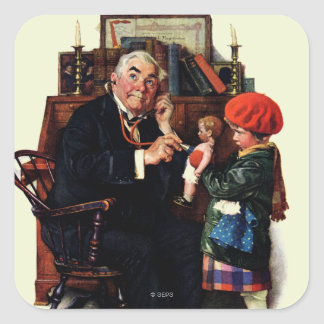 Doctor and the Doll Square Sticker