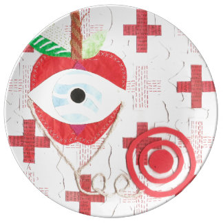 Doctor Apple Porcelain Plate
