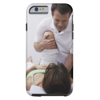 Doctor applying treatment to patient tough iPhone 6 case