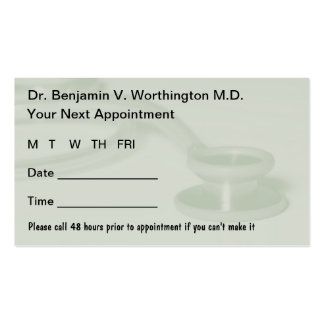 Doctor Appointment Cards Business Card Template