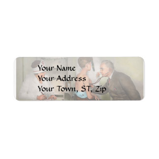 Doctor - At the pediatricians office 1925 Return Address Label