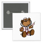 Doctor Bear Lady Button