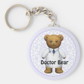 Doctor Bear - Teddy Bear Basic Round Button Key Ring