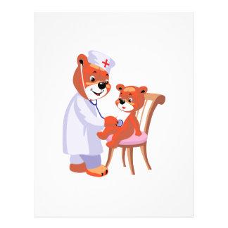 doctor bear tending patient full color flyer