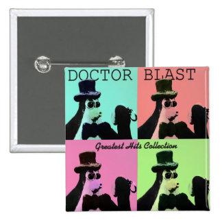 Doctor Blast Pop Art design Button