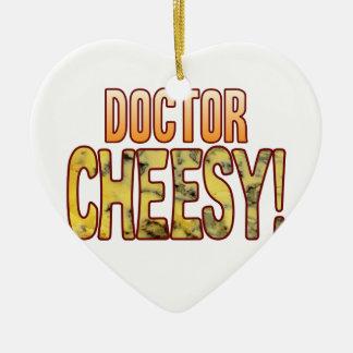 Doctor Blue Cheesy Ceramic Heart Decoration