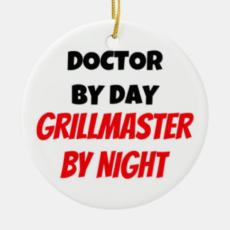 Doctor by Day Grillmaster by Night Christmas Ornament