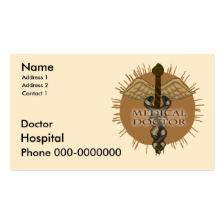 Doctor Caduceus Double-Sided Standard Business Cards (Pack Of 100)