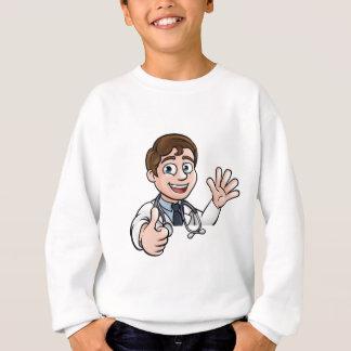 Doctor Cartoon Character Sign Thumbs Up Sweatshirt