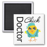 Doctor Chick Square Magnet