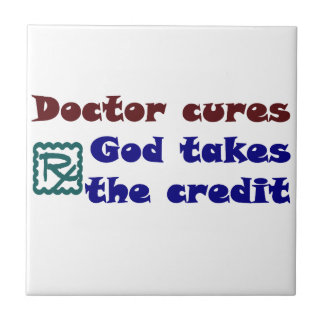 Doctor cures small square tile