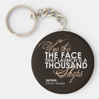 Doctor Faustus Quote Basic Round Button Key Ring