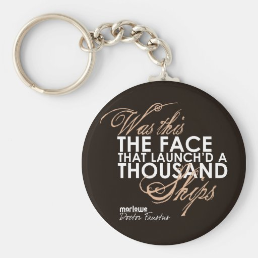 Doctor Faustus Quote Keychain