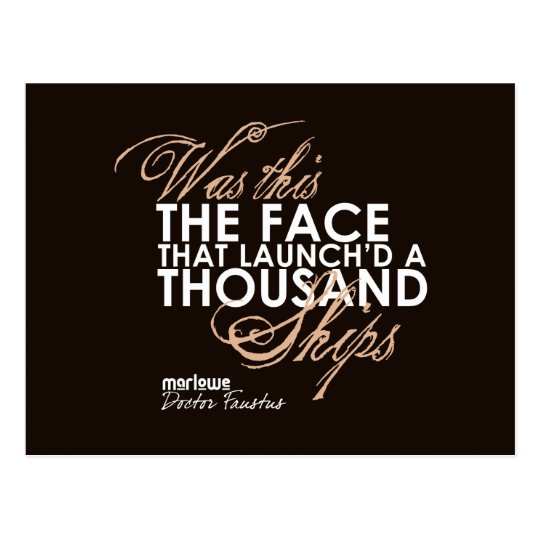 Doctor Faustus Quote Postcard