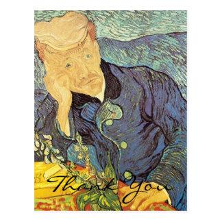 Doctor Gachet Portrait by Van Gogh, Thank You Postcard