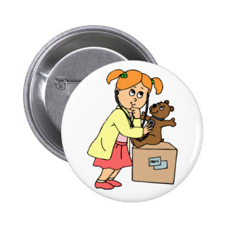 Doctor (girl) 6 cm round badge