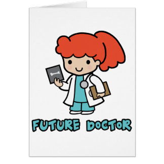 Doctor girl greeting cards