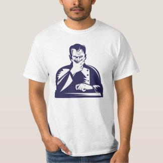 Doctor Hand on Chin Woodcut Shirts