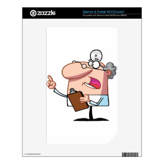 Doctor holding a  clipboard decal for the NOOK color