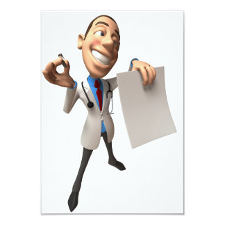 Doctor Holding Some Paper Invitations