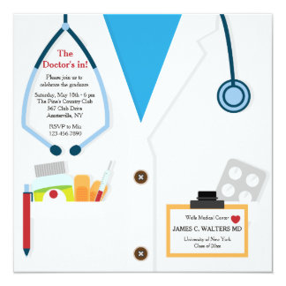 Doctor Is In Graduation Invitation