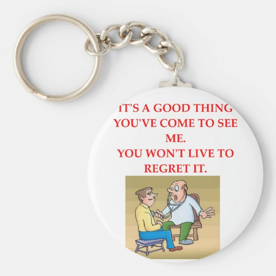 doctor joke key ring