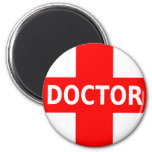 Doctor Logo 6 Cm Round Magnet