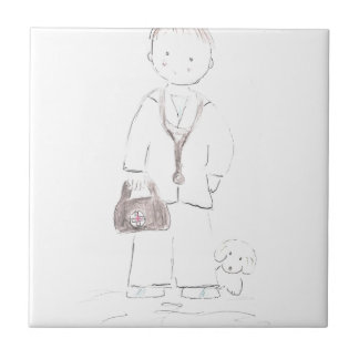 Doctor (Male) Small Square Tile