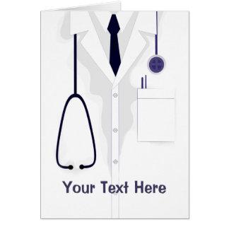 Doctor Medical Coat Male White Custom Card