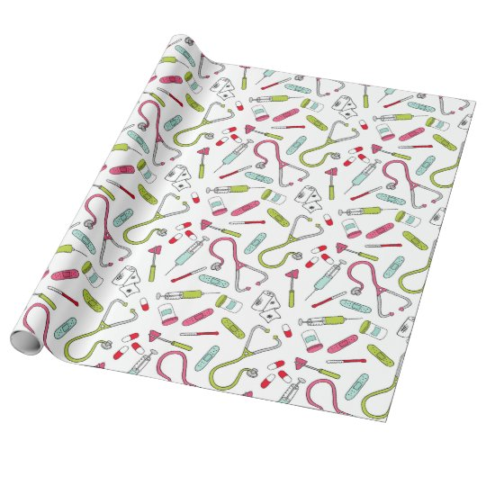 Doctor, Nurse, Medical Wrapping Paper