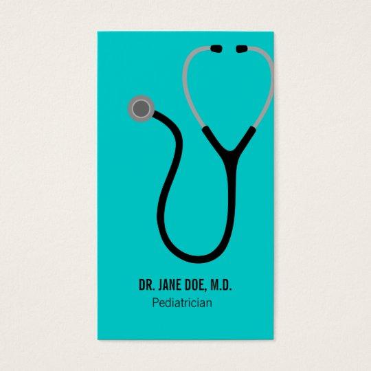 Doctor of Medicine MD - Stethoscope Business Card