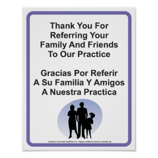 Doctor Office Patient Referral Wall Sign