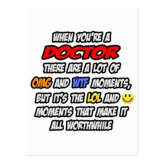 Doctor .. OMG WTF LOL Postcard
