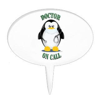 Doctor on Call Penguin Cake Topper