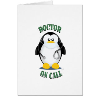 Doctor on Call Penguin Greeting Card