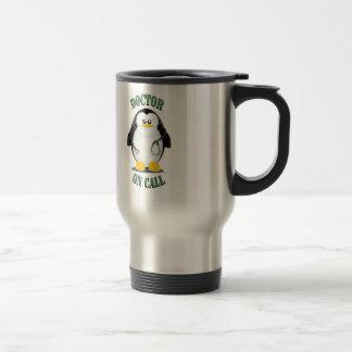 Doctor on Call Penguin Travel Mug