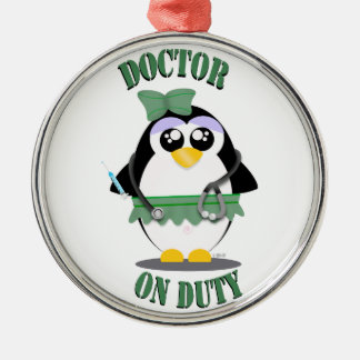Doctor on Duty Penguin (female) Christmas Ornament