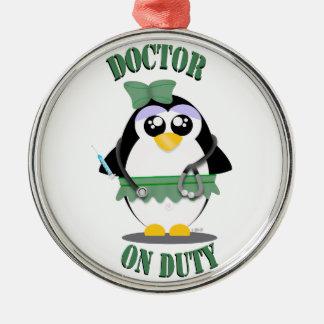 Doctor on Duty Penguin (female) Christmas Ornament