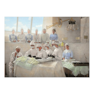 Doctor - Operation Theatre 1905 13 Cm X 18 Cm Invitation Card