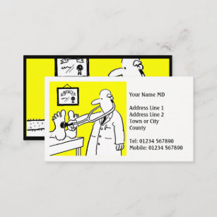 Medical professional business cards business card printing zazzle uk doctor or medical professional business card reheart Image collections